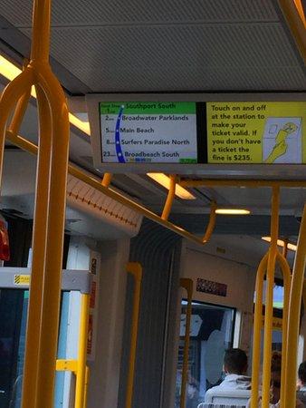 Broadbeach, Austrália: system map inside the tram