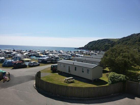 Pentewan, UK: Overview on a sunny day! Stunning!