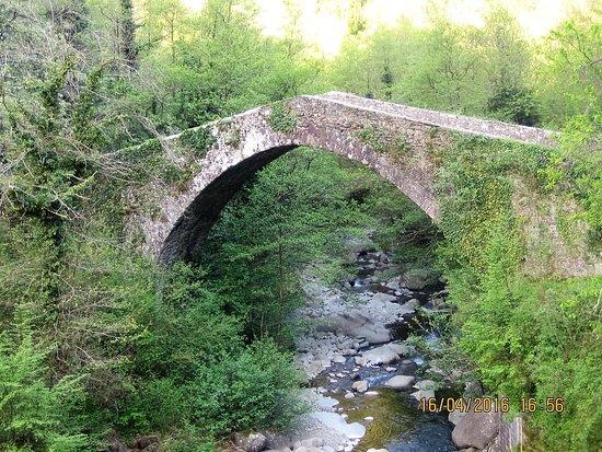 Castiglione di Garfagnana, Italia: ponte mediovale a pochi passi da CASTIGLIONE