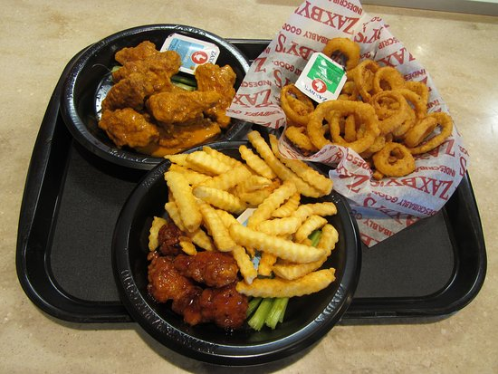 West Valley City, Юта: Zaxby's - 10-piece wings, onion rings, and boneless wings with crinkle cut fries