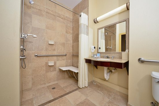 Clarion, PA: Accessible King Room Shower