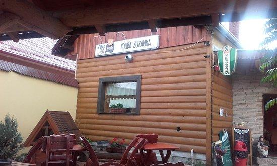 Turcianske Teplice, Slovakia: Nápis na průčelí