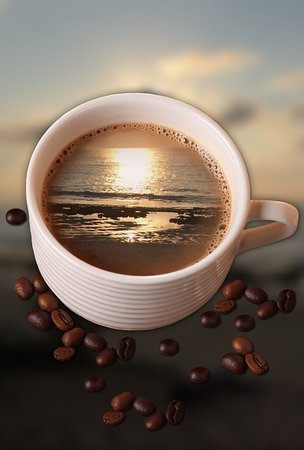 Tofo, Mozambique: Coffee at Sunrise
