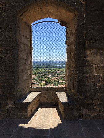 Chateauneuf-du-Pape, Francia: Castle ruins and view