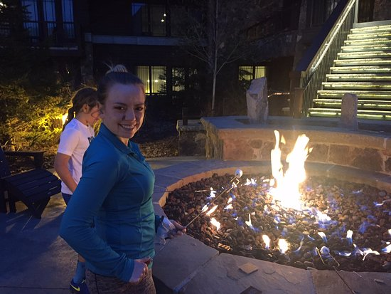 Waldorf Astoria Park City: S'mores at night during the winter months.