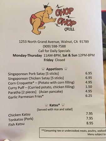 Walnut, Kaliforniya: menu