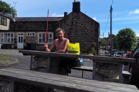 Bellingham, UK: Preparing for another day's walk along the Pennine Way