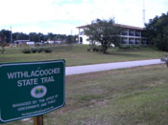 Inverness, FL: Withlacoochee State Trail behind motel