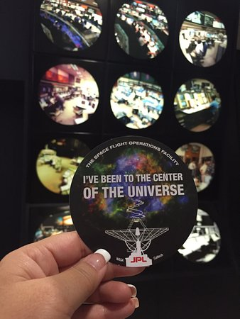 Jet Propulsion Laboratory: My sticker from Mission Control