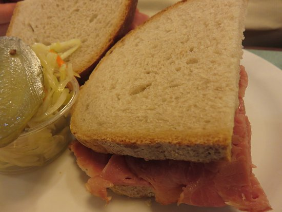 Thornhill, Canada: Corned beef on rye, with slaw and a pickle