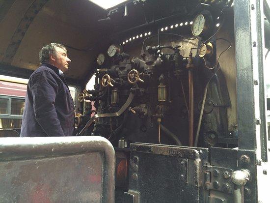 Aviemore, UK: controls in the cab