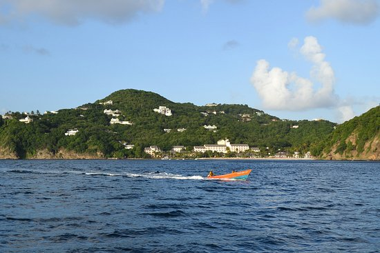 Cap Estate, St. Lucia: The hotel from the sea