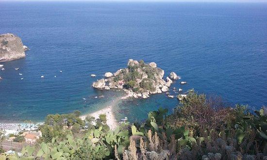 Isola Bella: La isola desde Taormina
