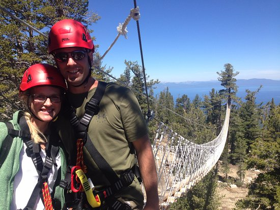 Саут-Лейк-Тахо, Калифорния: Having a great time on the Canopy Tour at Heavenly Epic Discovery!