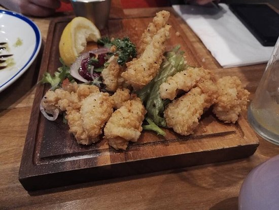 Antrim, UK: Salt and Pepper Squid cooked beautifully.