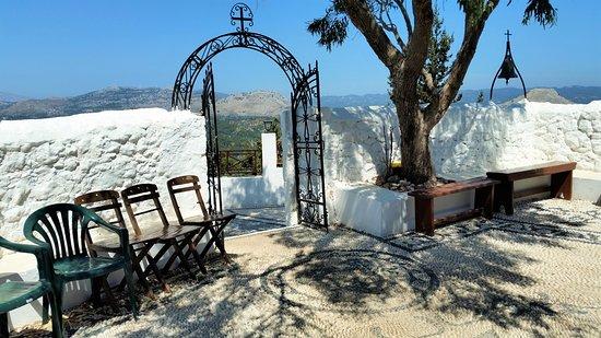 Kolimbia, Grecia: Ingresso al Monastero di Tsambika