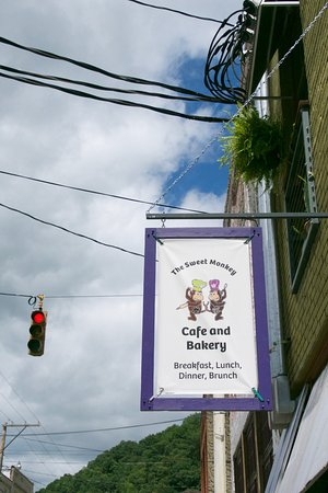 Sweet Monkey Cafe and Bakery in greater downtown Marshall, NC.