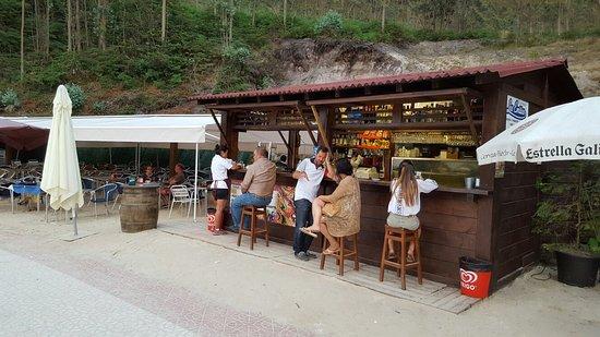 La Franca, Spanien: Arroz con bogavante next to the beach!