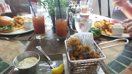 Oak Bluffs, MA: Oyster App and Bloody Marys