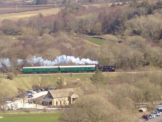 View of the Swanage Railway from Corfe Castle