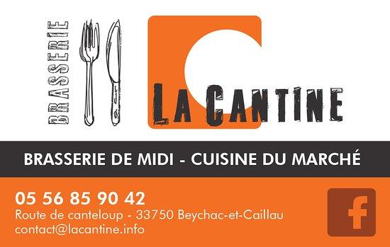 Brasserie La Cantine Carte De Visite