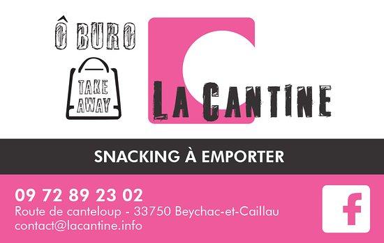 Brasserie La Cantine Carte De Visite Snacking O Buro