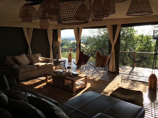 Timbavati Private Nature Reserve, Afrika Selatan: Lounge