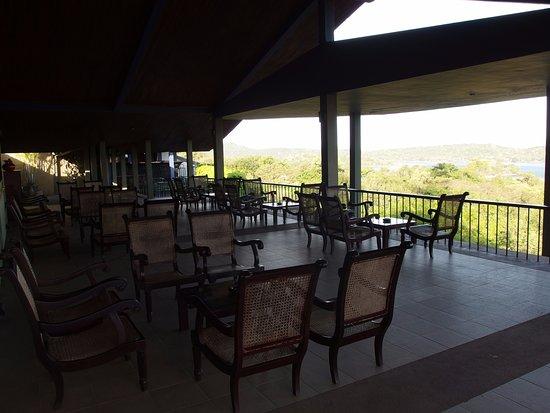 Giritale, Sri Lanka: terrace with great view