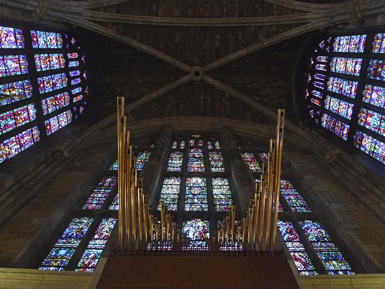 West Point, NY: part of the pipe organ. also, nice stained glass.