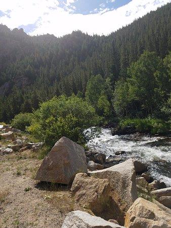 The stream that runs along Peak to Peak Scenic Byway