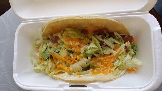 밀피타스, 캘리포니아: 타코: 고기를 빼라는 주문에 맞춰, 채소/콩/치즈만 들어감
