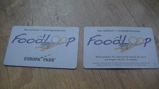 Food Loop : Cartes qui permettent de commander sur la tablette tactile