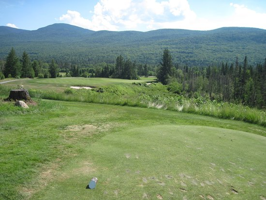Bretton Woods, NH: Awesome par 3 205 yards downhill, perfect 5 hybrid shot.