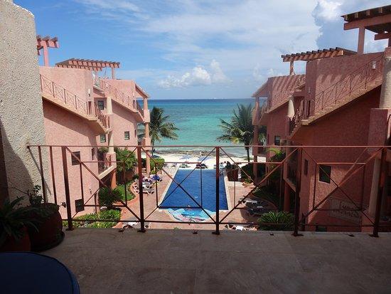 Luna Encantada Vacation Condos: View from patio of G3
