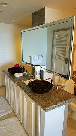 The Galvestonian: Bathroom Vanity Area