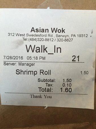 Berwyn, Pensilvania: Asian Wok