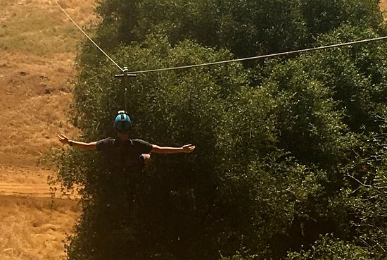 Mariposa, CA: Son relaxing on way down