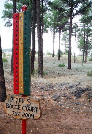 Overgaard, AZ: Tiff's Bocce Court
