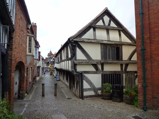 Ledbury, UK: Heritage Centre, church end of Church Lane