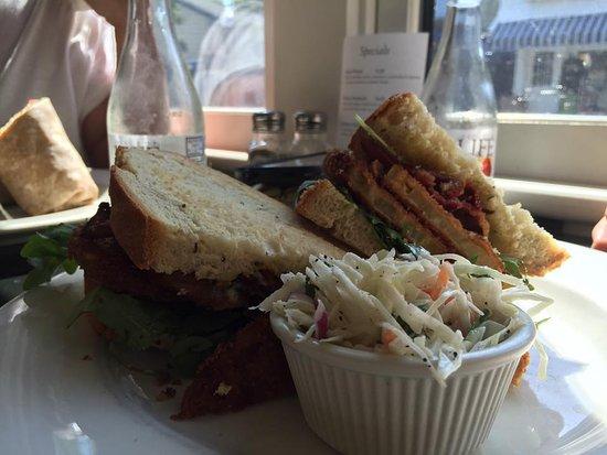 Slice of Life : Fried Green Tomato sandwich