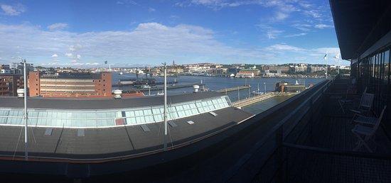 Quality Hotel 11: Utsikt från balkongen från rum 805