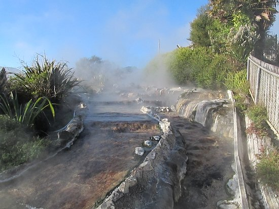Waikite Valley Thermal Pools: Cascading waters from the spring