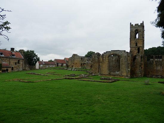 Northallerton, UK: A view of the ruins & the rear of the house.