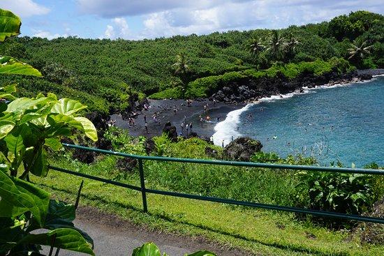 Wailuku, Hawaje: Waianapanapa State Park black sand beach
