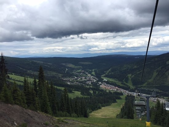 Sun Peaks, Canada: View from chair lift