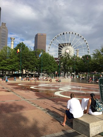 """Centennial Olympic Park: Fun place for families to escape the """"city life"""""""