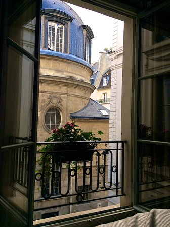 Melia Colbert - Paris: View from the bed in my room.