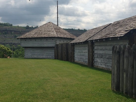 Steubenville, OH: The walls of Forst Steuben. Note that the back wall of the buildings are part of the stockade.