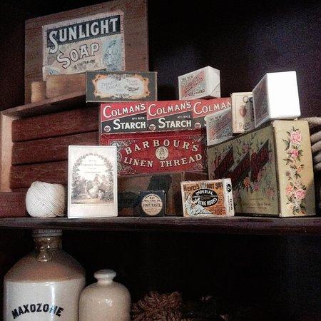 Ironbridge, UK: Old labels
