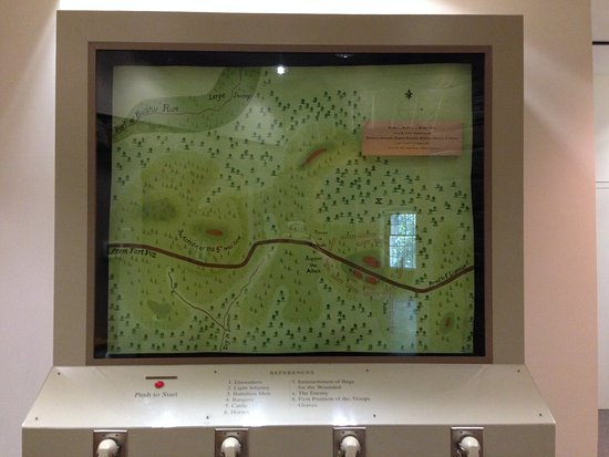 Jeannette, PA: Map of the Bushy Run Battlefield, with audio that describe the events of the battle.
